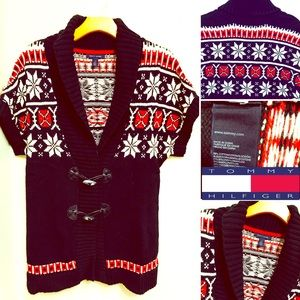 Tommy Hilfiger Chunky Short Sleeve Knit Sweater